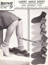 ANKEL SOCKS two needles 3 STYLES 4ply  - COPY sock knitting patterns
