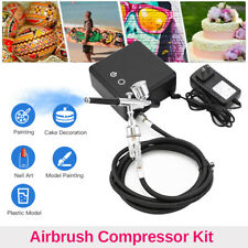 Dual Action Portable Airbrush Compressor Set Art Painting Nail Art Makeup Cake