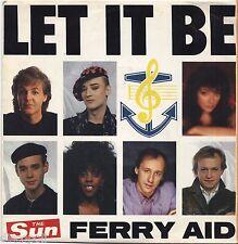 "FERRY AID - Let it be - PAUL McCARTNEY KNOPFLER - VINYL 7"" 45 ITALY 1987 NM/VG+"
