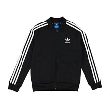 ADIDAS Superstar Athletic Track Jacket Black Youth Size Small retail $45