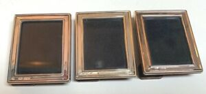 3 Sterling Silver Hallmarked~Miniature Standing photo frames~never need polish
