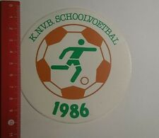 Aufkleber/Sticker: KNVB Schoolvoetbal 1986 (261216100)