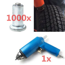 1000x Winter Snow Car Tire Stud Screw Spike w/ Air Installation Tool Auto Shop
