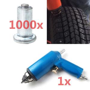 1000x Winter Snow Car Tire Stud Screw Spike w/ Air Installation Tool Auto Shop