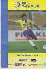 Programme / Programma RKC Waalwijk v Ajax Amsterdam 03-12-2004