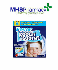 4 sheets Kool 'n' Soothe Soft Gel Children Kids Fever Immediate Relief