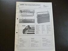 Original Service Manual  SABA Transatlantic 18 Automatic