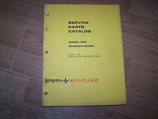 ORIGINAL NEW HOLLAND GRINDER MIXER MODEL 358  SERVICE PARTS CATALOG