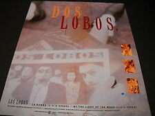 LOS LOBOS is DOS LOBOS By The Light Of The Moon 1987 PROMO DISPLAY AD mint cond