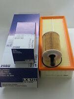 VW Touran 2.0 TDi 1968cc Oil Air Filter Service Kit Genuine Mahle 2003-2011