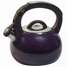 New Whistling 3-Qt.Stainless Steel Purple Tea Kettle, on Sale.