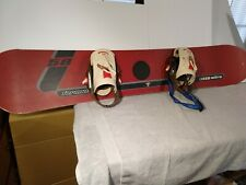 Vintage Made in Austria Burton Nitro Snowboard with Bindings and Soft Case