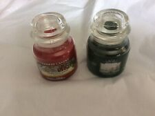 Two small Christmas jars Yankee candle new