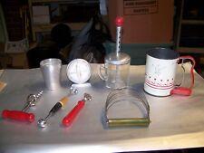 Vintage Mirro Matic time,Flour Sifter,measure glass mixer,Aluminum ,measure cup,