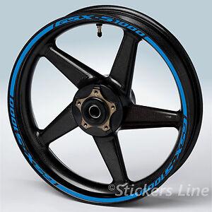 Adesivi cerchi moto Suzuki GSXS 1000 strisce ruote Suzuki GSX S 1000 gsx-s 1000