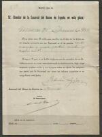 Q39-DOCUMENTO BANCO ESPAÑA 1902   EN MURCIA,FEDERICO DELGADO MORALES,CEHEGIN