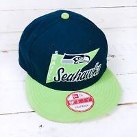 Seattle Seahawks NFL 9Fifty New Era Adjustable Snap Back Navy/Green Hat/Cap