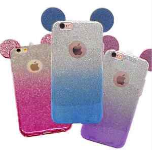 Luxury Glitter Bling Soft Crystal  Phone Case Cover For Apple iPhone 6s 7 8 + X