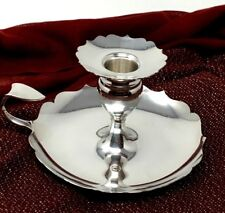 Tiffany & Co. Sterling Silver Scalloped Edge Chamberstick Candle Holder