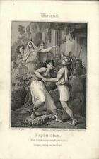 Stampa antica WIELAND Daphnidion 1860 Old antique print Alte stich