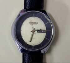 Vintage Citizen dress watch Automatic leather strap serviced unisex