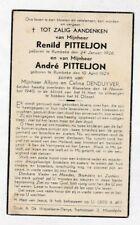 2 Broers OORLOGSSLACHTOFFERS R.&A.PITTELJON °RUMBEKE +ROESELARE 1940 (DENDUYVER)