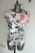 Ladies M&S Size 12 Soft Poly Viscose Short Sleeve Floral Top T Shirt New