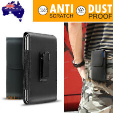 For iPhone 11 Pro Max Samsung Note 20 Leather Case Holster Pouch with Belt Clip
