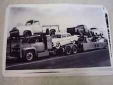 NEW 1955 FORD CAR AN PICKUP ON FORD HAULER   11 X 17  PHOTO  PICTURE