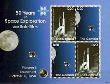 GAMBIA 2008 PIONEER I M/S of 4 MNH ** ASTRONOMY & SPACE (DO YOU KNOW CAT.VALUE?)