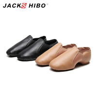 Womens Leather Upper Slip-on Jazz Shoe Lightweight Soft Split Sole Ballet Shoes