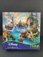 Peter Pan Neverland Thomas Kinkade Ceaco 750 Piece Disney Puzzle 2017 RARE
