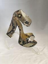High Heels Pierre Dumas Celeste-4 Faux Snake Skin Pattern Platforms Size 7 1/2 M