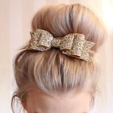 Sweet Women Girl Glitter Hairpin Bowknot Barrette Crystal Hair Clip Bow Gift NEW
