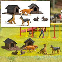 Busch Dog Houses and Dogs 1197  HO Scale
