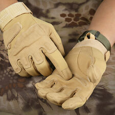 Men's Tactical Gloves Black Hawk Style Full Finger Outdoor Working Gloves Brown