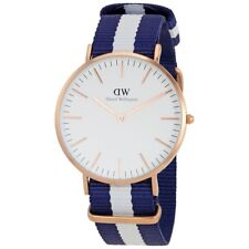 Daniel Wellington Glasgow Women's 36mm Multicolor Cloth Quartz Date Watch 0503DW