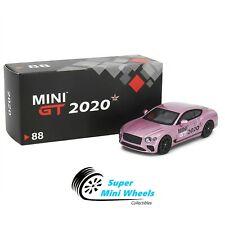 Mini Gt 1:64 Bentley Continental Gt Pink 2020 Memorial Car #88