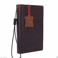 genuine vintage leather Case For Samsung Galaxy Note II 2 book wallet luxury new