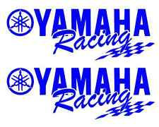 (2) Yamaha Racing Decal BLUE Sticker Motocross Jetski Waverunner yz r6 r1 mx yz