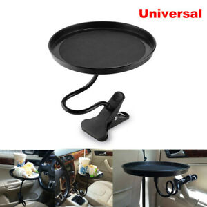Adjustable Round Car Cup Holder Coffee Beverage Table Stand Food Tray Disk Clip