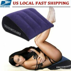Inflatable Sex Aid Wedge Pillow Sofa Love Position Cushion Couple Furniture US