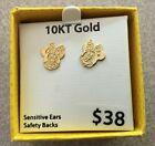 Disney Girls Mickey Stud Earrings 10K Gold New!