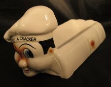 Have A Cracker Ceramic Chef Cracker Dish Made in Japan 1940-1950's RARE