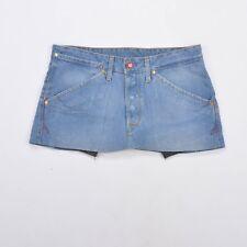 LEVIS JEANS FEMMES Denim Jupe Jeans Reworked/Coupé W32 Uk14 M Bon