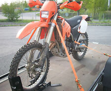 4 x Motorrad Spanngurt Zurrgurt Motorradtransport Motorradsicherung Zurrschlaufe