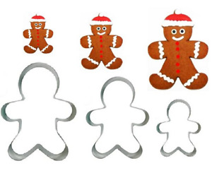 Gingerbread Man Cookie Cutter - Set of 3 - Small Medium & Large
