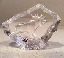 Mats Jonasson MOOSE Full Lead Crystal Glass Sculpture Sweden Signed NEW