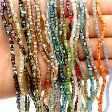 Wholesale 200PCS CUBE Crystal glass Jade Jewelry Loose Spacer BEADS 2x2mm