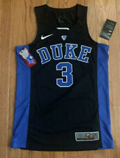 Men's Nike #3 Duke Blue Devils Black Authentic Basketball Jersey Small NWT $120